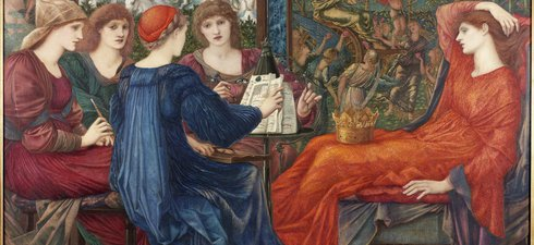 Painting, oil on canvas, entitled 'Laus Veneris', by the artist Sir Edward Coley Burne-Jones