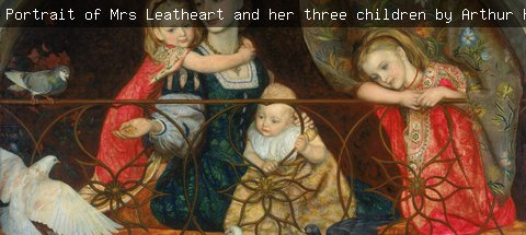 s pre-raphaelite painting of a mother with her children