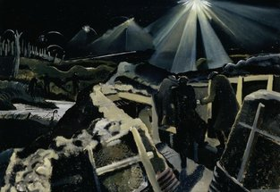 Paul Nash, Ypres Salient at Night, 1918 © Imperial War Museum