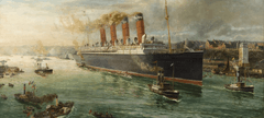 Mauretania leaving the Tyne Charles Hemy 1907