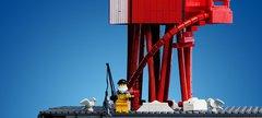 Herd Groyne lighthouse made from LEGO