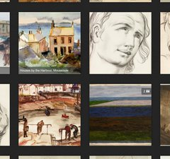 Various different paintings and sketches from the Tyne & Wear collections