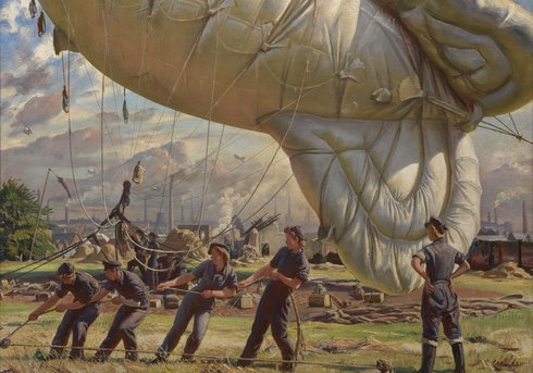 Balloon Site, Coventry by Laura Knight