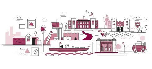 Illustration of TWAM venues