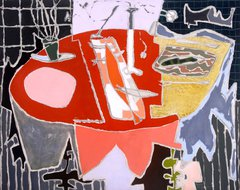 A painting called The Red Table by Patrick Heron