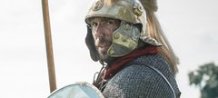 A Roman soldier in armour