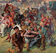 William Irving, 'The Blaydon Races - A Study from Life', oil on canvas, 1903