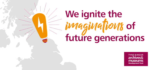 Lightbulb and text reading We ignite the imaginations of future generations