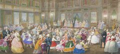 The Children's Fancy Ball at Buckingham Palace, 7th April 1859 by Eugenio Agneni (1816-1879)