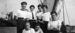 Young sailors on board Landing Craft Tank during WWII