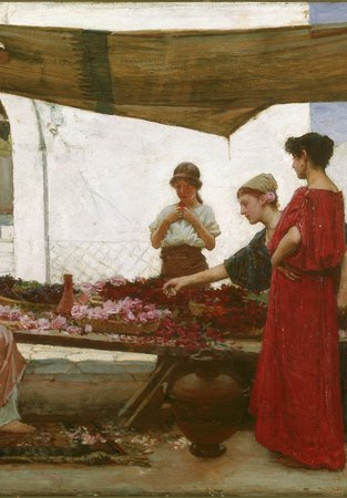 A painting by John William Waterhouse
