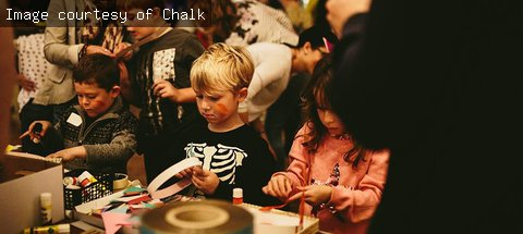 Crafting activity with Chalk