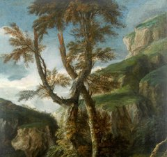 Salvator Rosa, Soldiers in a Rocky Gorge, c. 1625-75, Hatton Gallery