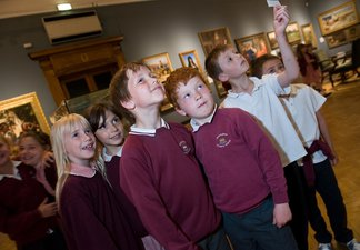 School pupils at the Laing Art Gallery