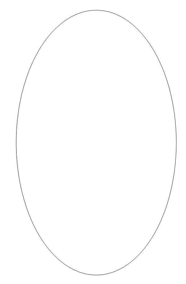 Outline oval shield
