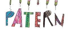 illustration in crayons saying PATERN