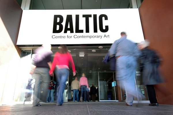 Visitors approach the entrance of the BALTIC Centre for Contemporary Art
