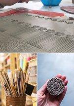 Ceramics Classes: Make a slip-decorated wall clock