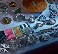 Medals from the collection at South Shields Museum