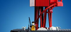 Herf Groyne Lighthouse in miniature made from LEGO