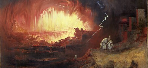 A painting by John Martin depicting the Destruction of Sodom and Gomorrah