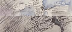 Details from miniature winter watercolours. Elizabeth Kane (2020) ©