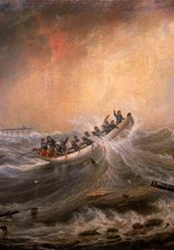 'The Wreck off the South Pier', by John Scott