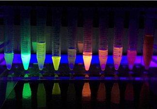 glow in the dark coloured liquids