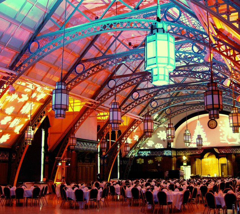 Photo: Christmas party celebration in the magnificent Great Hall