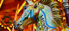 Fairground gallopers ride
