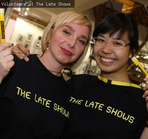 Volunteers at The Late Shows