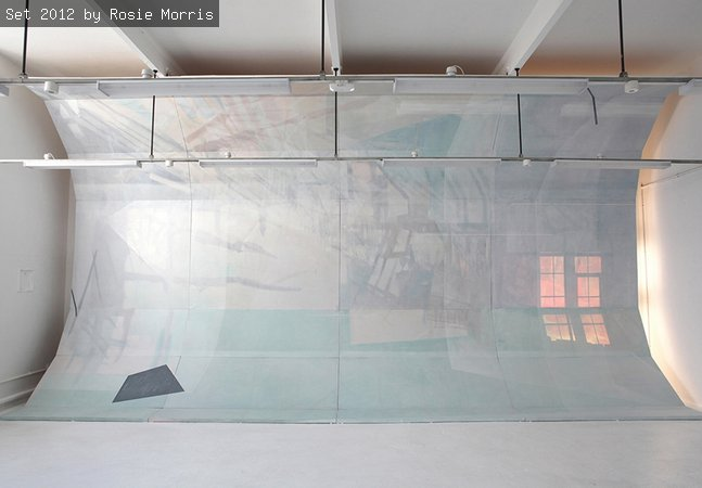 An image of an architectural installation by artist rosie Morris