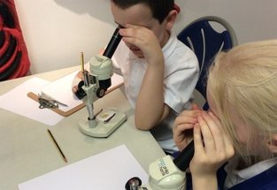 Children enjoying the Making a Mark project for their Arts Award