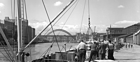 Photo of Newcastle Quayside in 1961