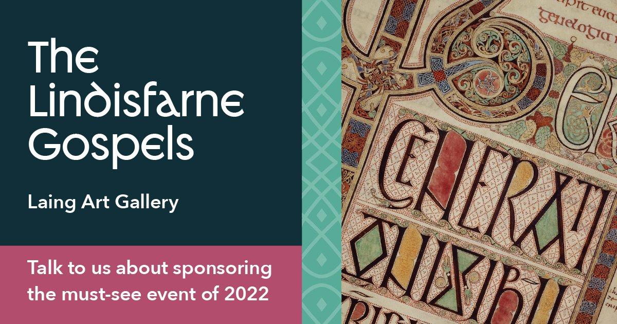Lindisfarne Gospels sponsorship graphic