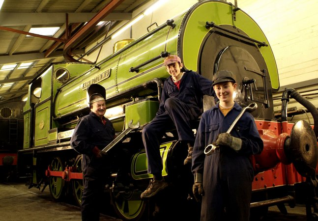 Volunteers at Stephenson Railway Museum