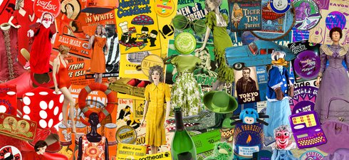 rainbow montage of Discovery Museum collection