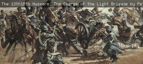 The 13th18th Hussars – The Charge of the Light Brigade by Peter Archer, 1980 detail