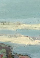 A painting of a blue seascape by the artist Wiliam Henry Charlton