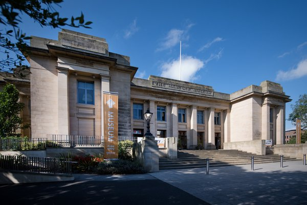 An exterior view of the Great North Museum on a fine sunny day