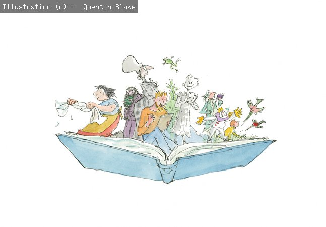 Quentin Blake Inside Stories open book image