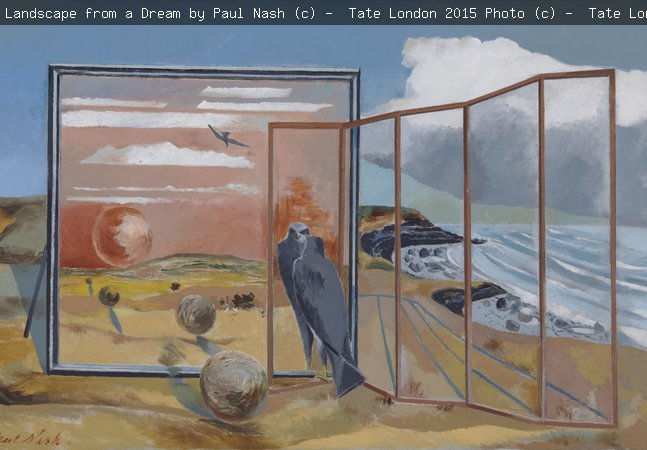 Landscape from a Dream by Paul Nash © Tate, London 2015