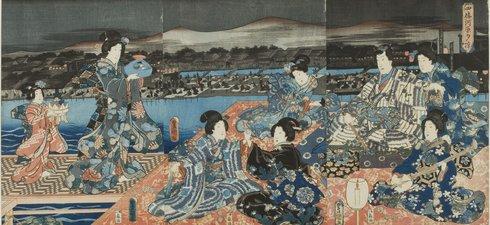 ENJOYING THE EVENING COOL AT SHIJO-KAWARA [SHIJO- KAWARA YU-SUZUMI]
