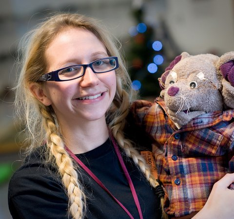Georgina with the Great North Mouse
