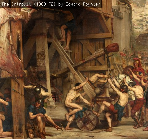 The Catapult (1868-72) by Edward Poynter