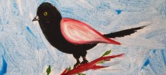 A painting of a bird