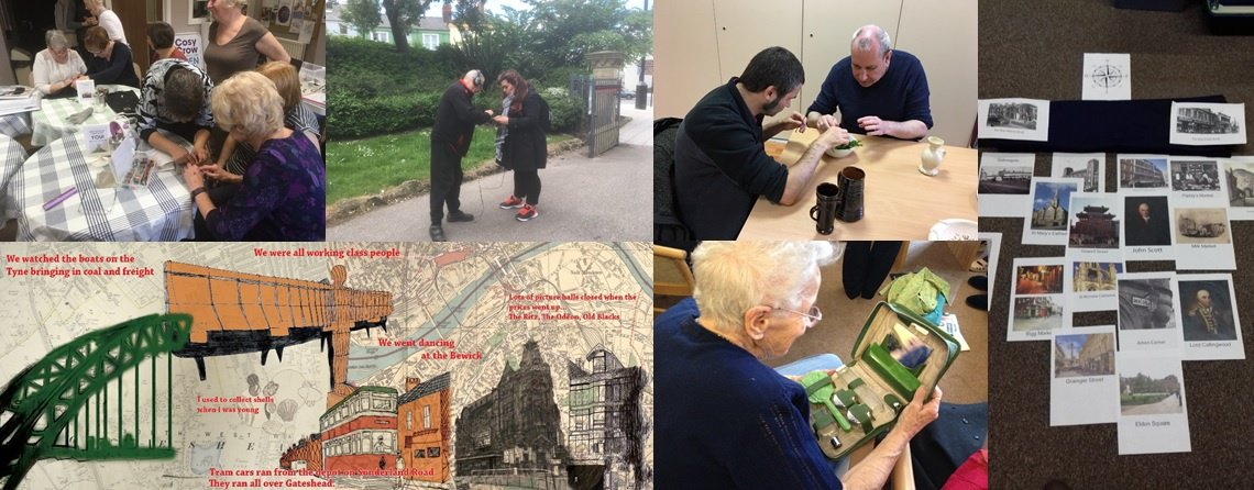A collage showing people taking part in a variety of activities