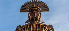 Roman centurion sculpture
