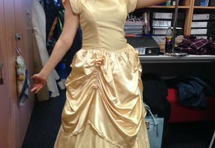 Erin as Belle in her production of Beauty and the Beast
