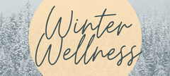 graphic showing a snowy scene in background with 'winter wellness' as the title